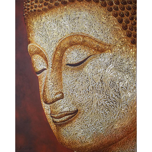 buddha face wall art buddha face painting buddha half face painting buddha face art half face buddha painting buddha paintings for living room buddhist art