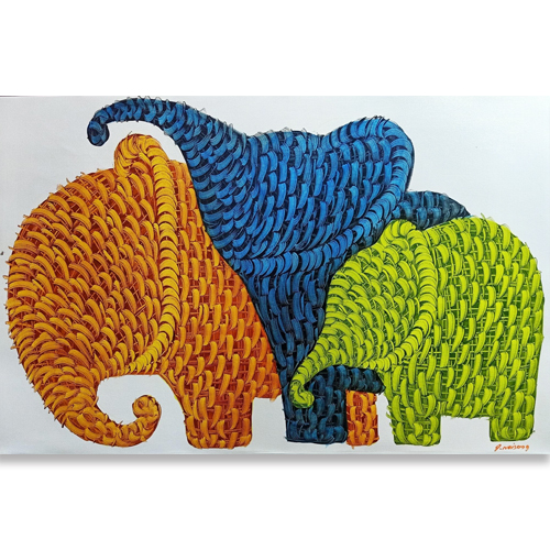 elephant family art elephant family wall art elephant family painting elephant art gallery thai elephant art asian elephant art buy elephant painting