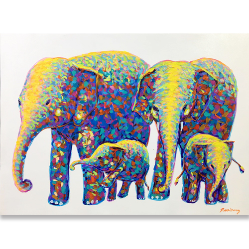 elephant family painting elephant family wall art elephant family art elephant art gallery thai elephant art asian elephant art buy elephant painting