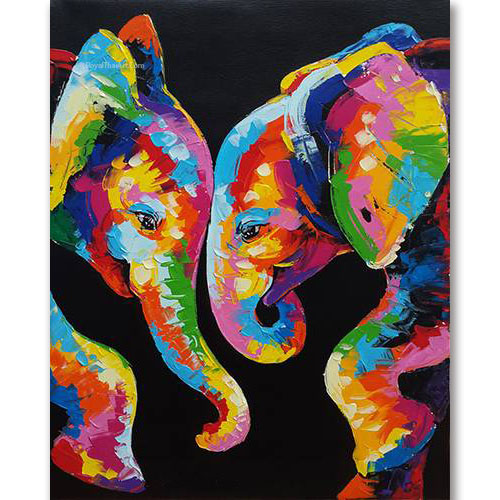 elephants art elephant painting colorful elephant painting elephant acrylic painting abstract elephant baby elephant painting