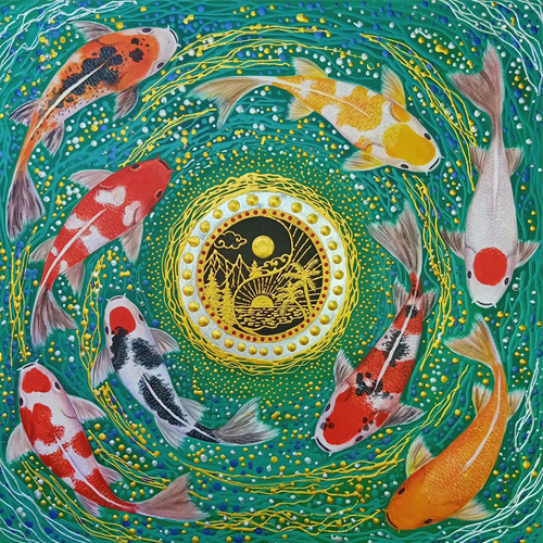 Koi Fish Japanese Art Original Koi Painting For Sale