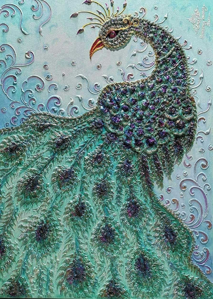 peacock canvas art wall decor