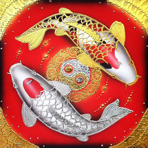 2 koi fish painting two koi fish art koi fish paintings on canvas 2 koi fish painting meaning jewells art feng shui paintings koi fish artwork asian art for sale
