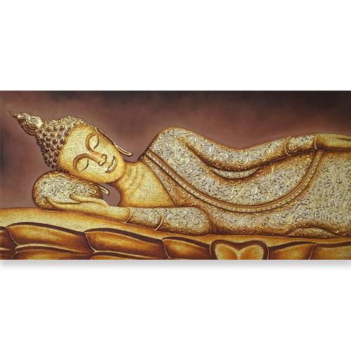 reclining thai buddha painting