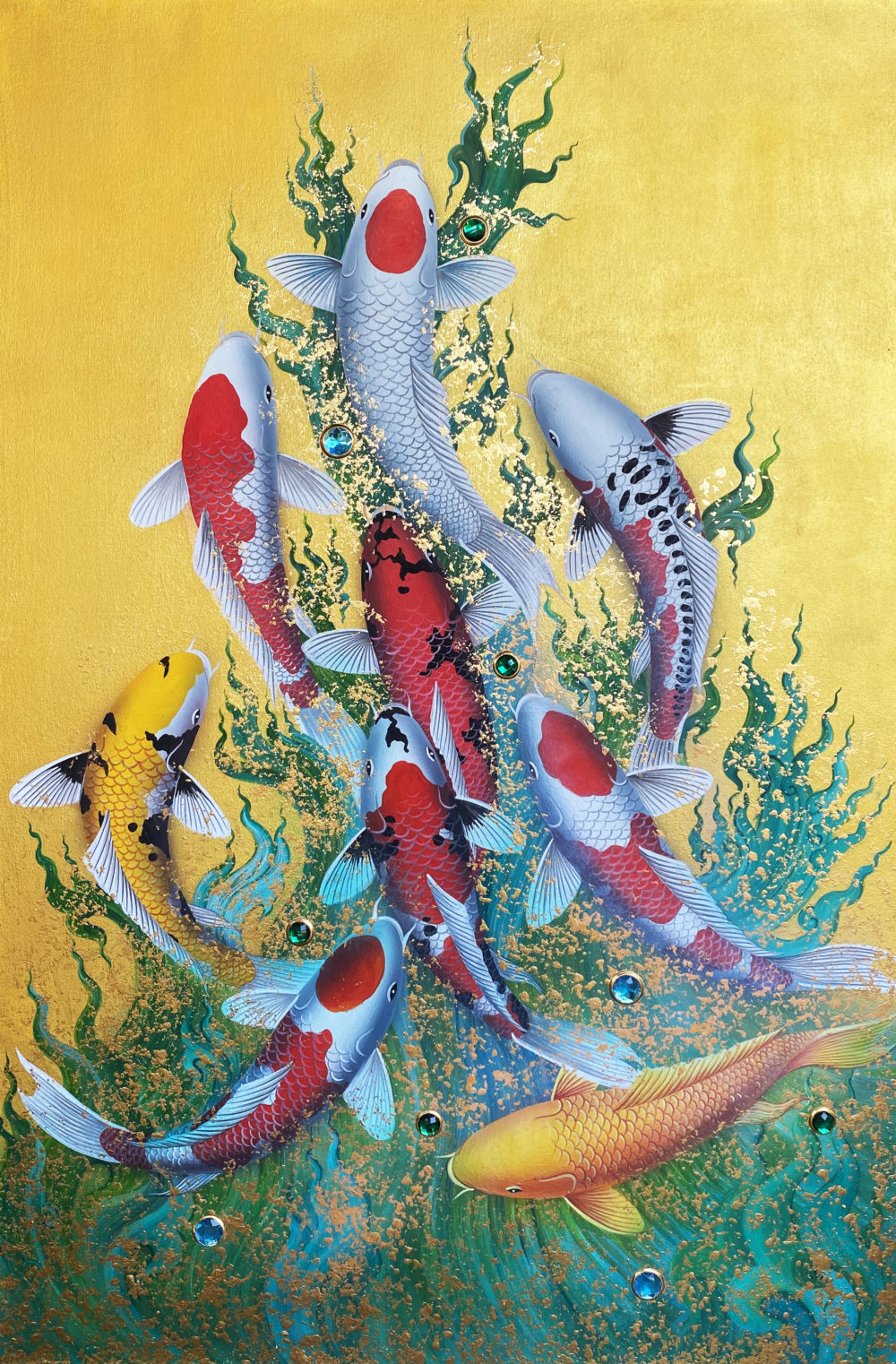 buy famous koi fish paintings for sale online