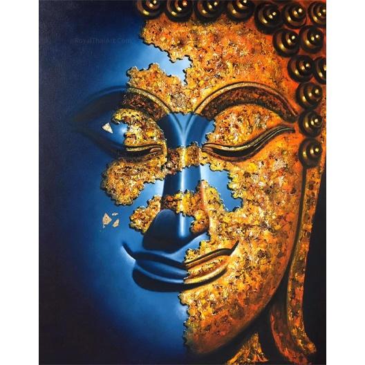blue buddha painting blue buddha acrylic painting half face buddha painting beautiful buddha paintings buddha paintings for sale buddha paintings for living room