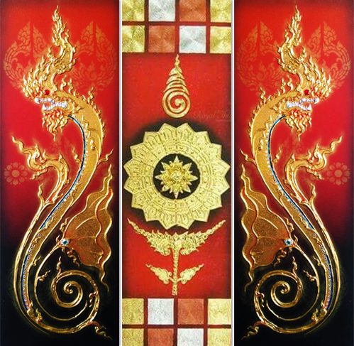 naga 3 piece wall art naga painting traditional thai art thai painting thai artwork thai wall art 3 piece canvas art 3 piece paintings naga painting thailand art