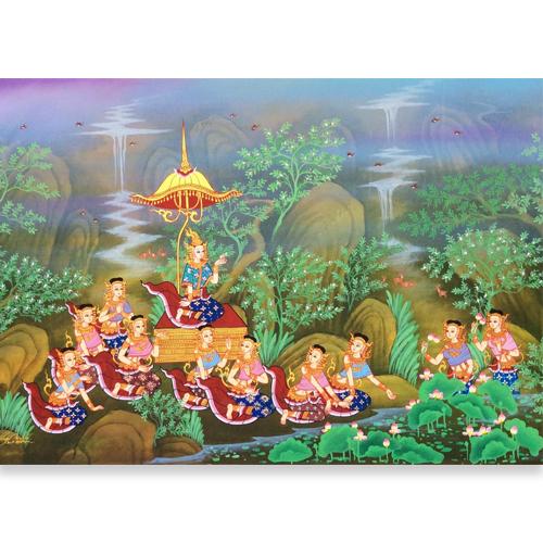 sita thai painting rama sita painting ramayana painting ramayana mural painting ramayana painting ramayana art thai decor thai painting thai artwork thai wall art