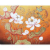 lanna lotus painting lotus art lotus flower art lotus canvas painting lotus oil painting best lotus paintings thailand wall art