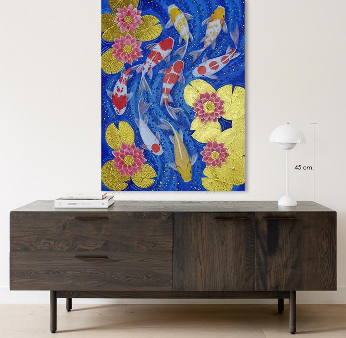 koi carp artwork home decor
