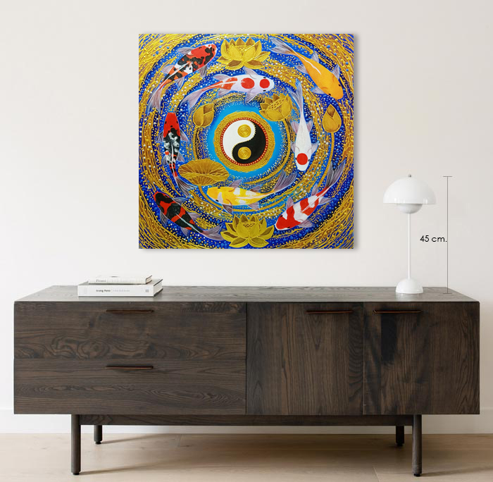 japanese carp art home decor
