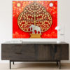 thailand white silver elephant painting for home decor