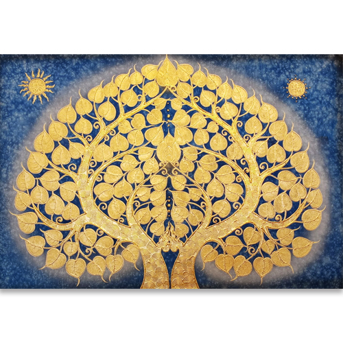 bodhi tree asian art buddha tree asian art asian painting asian wall art buy paintings online affordable art online thai art thai painting for sale
