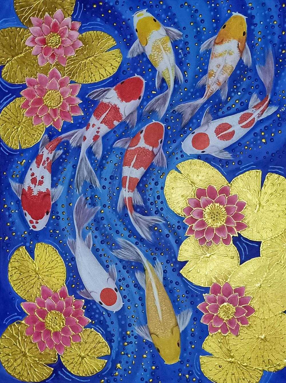 buy koi carp artwork for sale