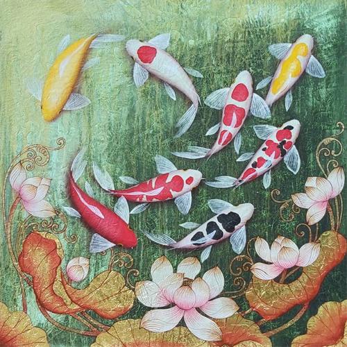 koi fish lotus flower asian art 8 koi fish painting koi fish art koi painting koi art coy fish painting koi fish artwork