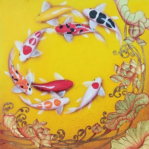 koi fish lotus flower painting 8 koi fish painting koi fish art koi painting koi art coy fish painting koi fish artwork
