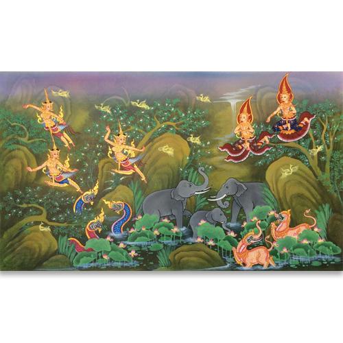 traditional thailand art thailand wall art thai art painting famous thai paintings thai folk art thai wall art decor arts of thailand oil paintings on canvas