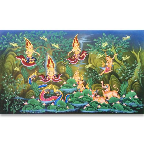 traditional thailand artwork thailand wall art thai art painting famous thai paintings thai folk art thai wall art decor arts of thailand oil paintings on canvas