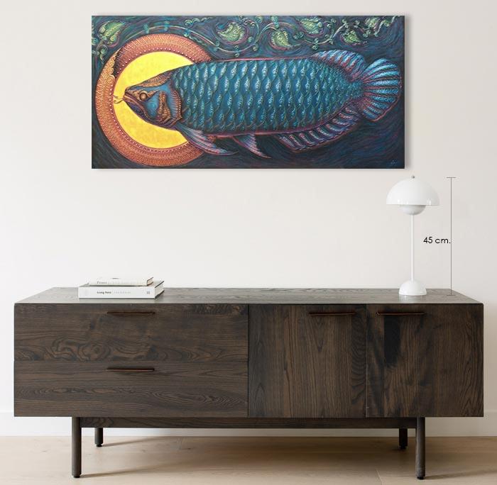 asian arowana painting home decor