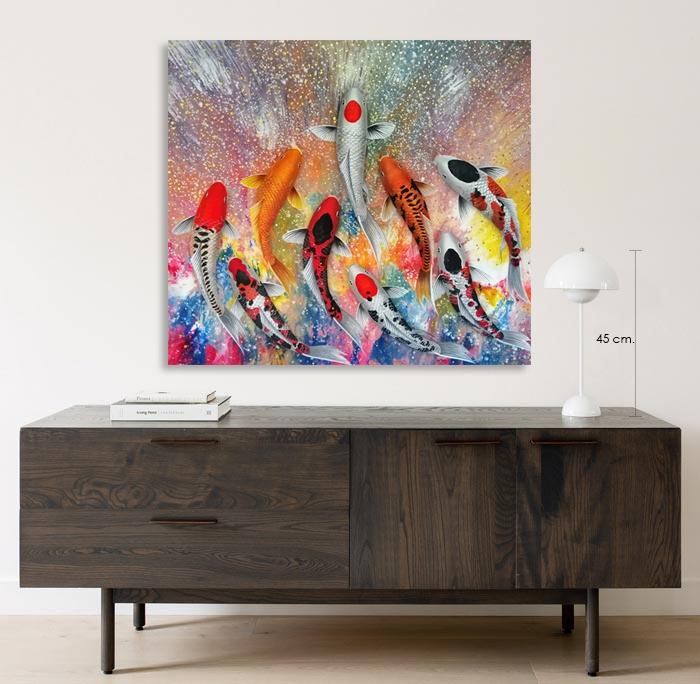 colorful koi art for sale
