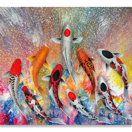 colorful koi art koi painting koi wall art koi fish paintings on canvas koi fish japanese art koi fish artwork koi fish acrylic painting 9 koi fish painting koi painting for sale