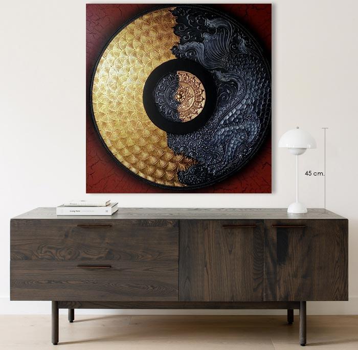 dragon mandala art for home