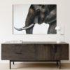 large elephant canvas art home decor