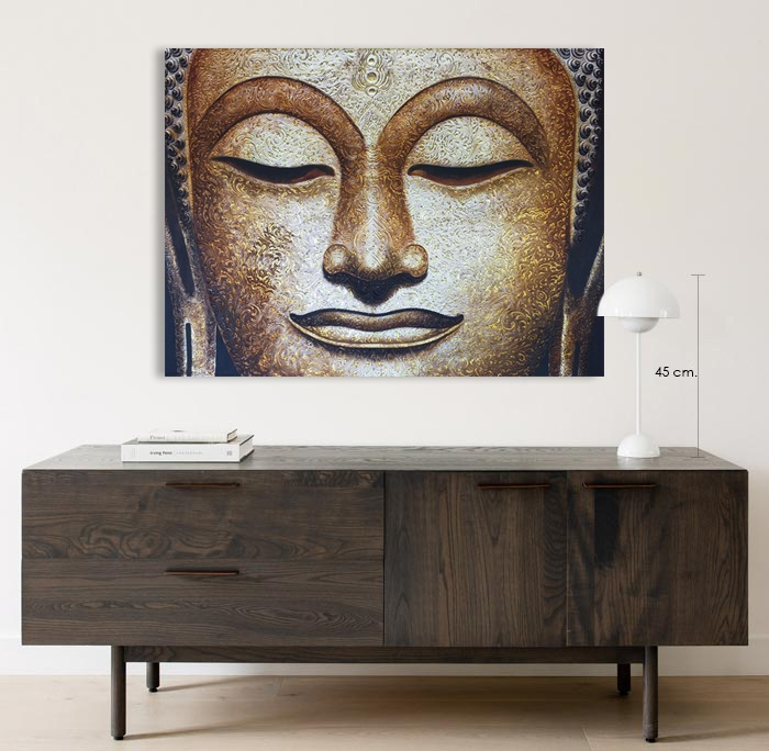 siam buddha face painting for living room
