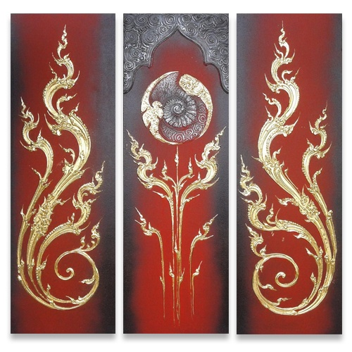 thai abstract 3 piece painting abstract art abstract canvas art abstract wall art painting abstract art for sale asian art thai art abstract artwork large abstract wall art