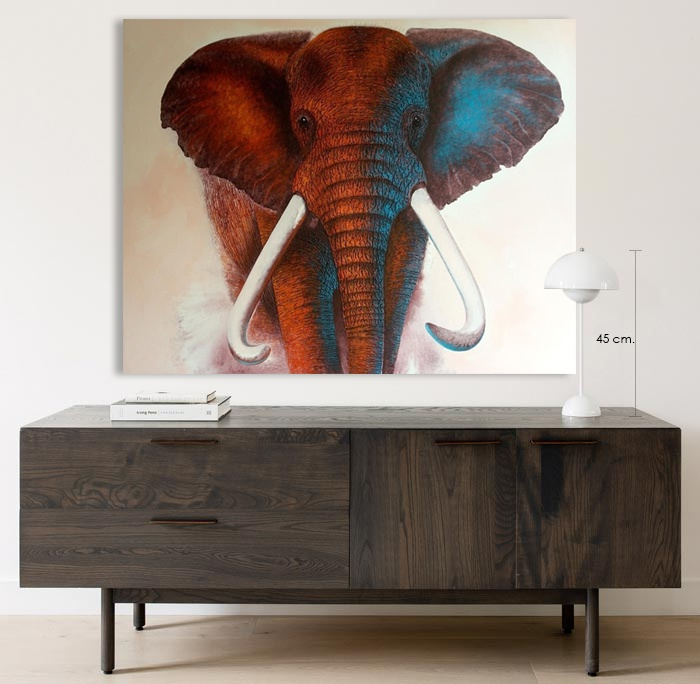 thailand elephant painting home decor