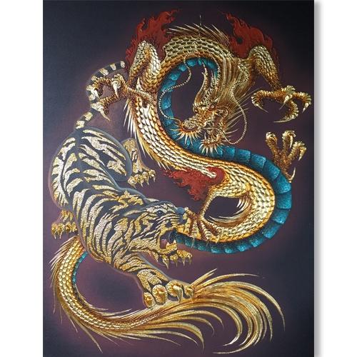 tiger dragon art tiger and dragon painting tiger and dragon art tiger painting dragon tiger yin yang art chinese dragon japanese tiger art traditional art