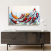 9 koi fish canvas art wall art