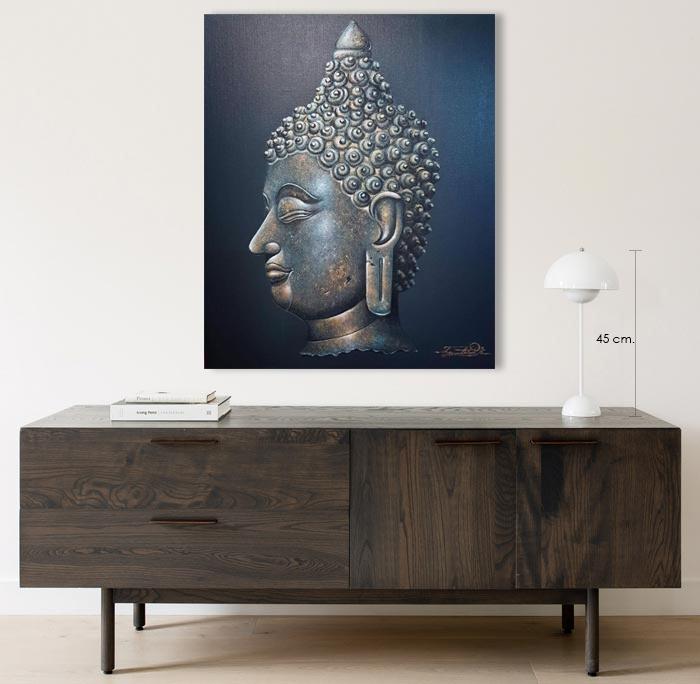 ancient buddha head art for living room