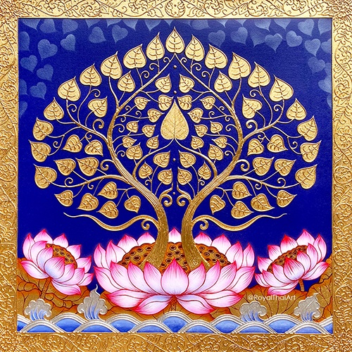 asian bodhi tree art painting bodhi tree wall art bodhi tree painting bodhi tree symbol bodhi tree leaf bodhi tree leaf images asian art buy art online thai art painting