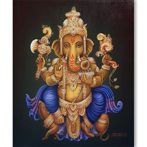 lord ganesh painting lord ganesha painting large ganesha painting ganesha painting online ganesha painting on canvas ganesha acrylic painting on canvas buy art online