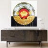 lotus abstract art home decor