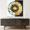 lotus abstract painting home decor