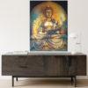 zen buddha art home interior