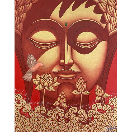 peace buddha painting buddha wall art buddhist art buddha canvas painting buddha artwork buddha paintings for living room