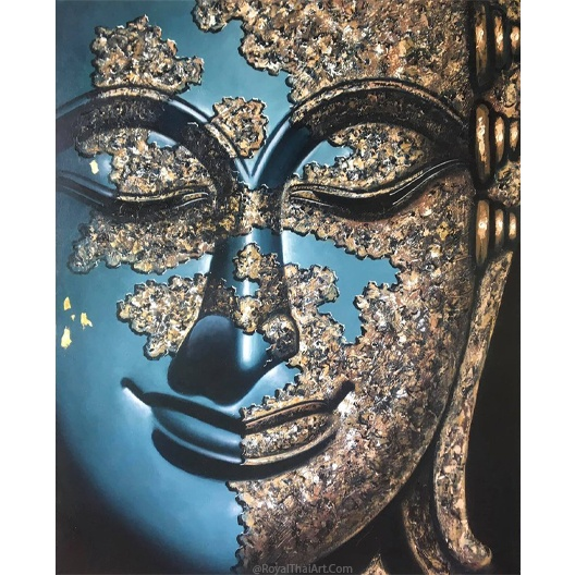 blue buddha art buddha wall canvas art painting