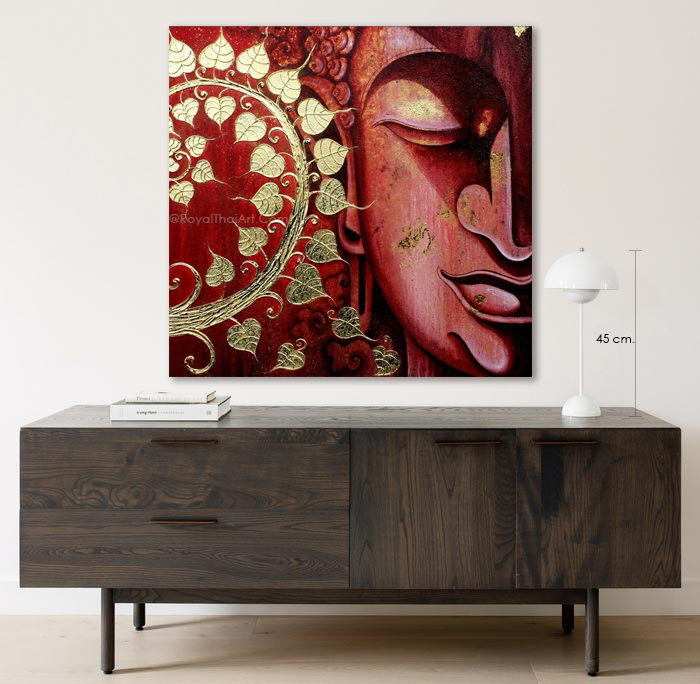 red buddha painting for sale