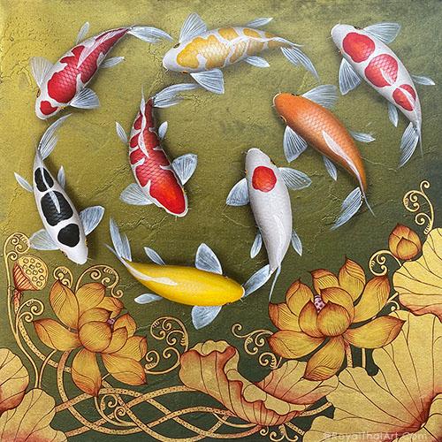 beautiful koi fish painting feng shui koi fish painting for sale koi fish painting acrylic koi fish painting famous