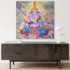 ganesha acrylic painting on canvas home decor