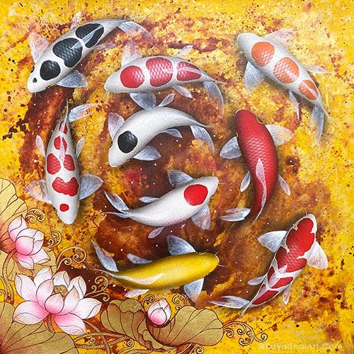 koi canvas wall art koi fish painting koi fish painting feng shui koi fish painting for sale koi fish painting acrylic koi fish painting famous