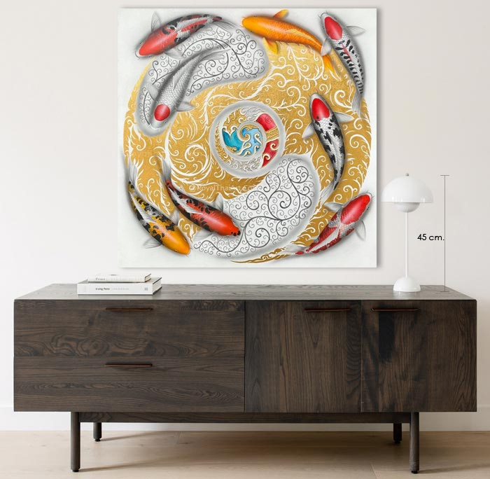 Koi Fish Chinese Painting for sale