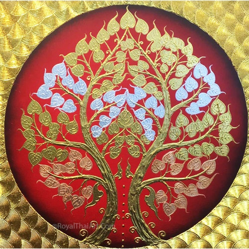 asian bodhi tree painting buddha tree painting bodhi tree wall art buddha bodhi tree painting bodhi tree artwork