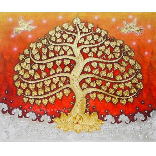 thailand bodhi tree painting buddha tree painting bodhi tree wall art buddha bodhi tree painting bodhi tree artwork