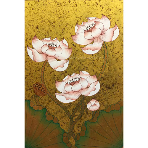 famous lotus painting lotus flower painting lotus flower acrylic painting lotus artwork lotus flower artwork