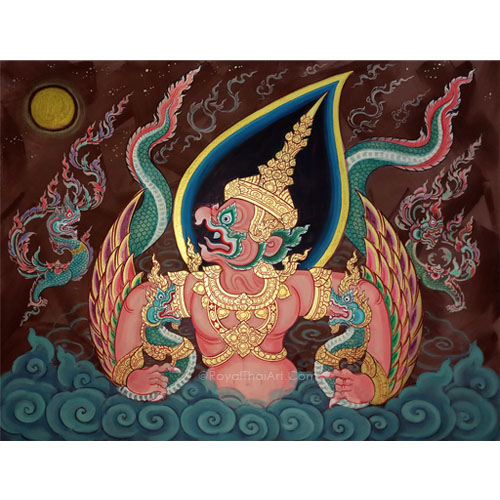 garuda thai art garuda painting garuda bird wall art traditional thai paintings for sale