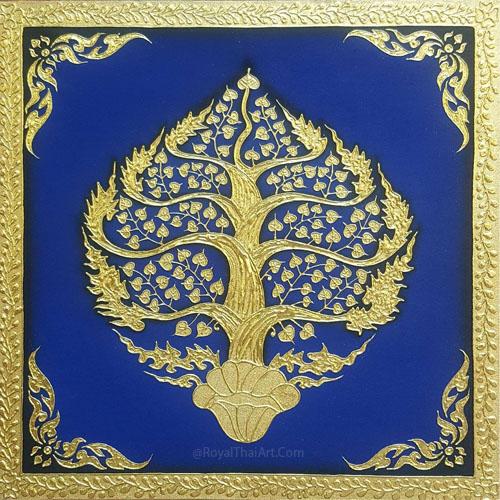golden tree painting golden tree wall art bodhi tree painting bodhi tree art